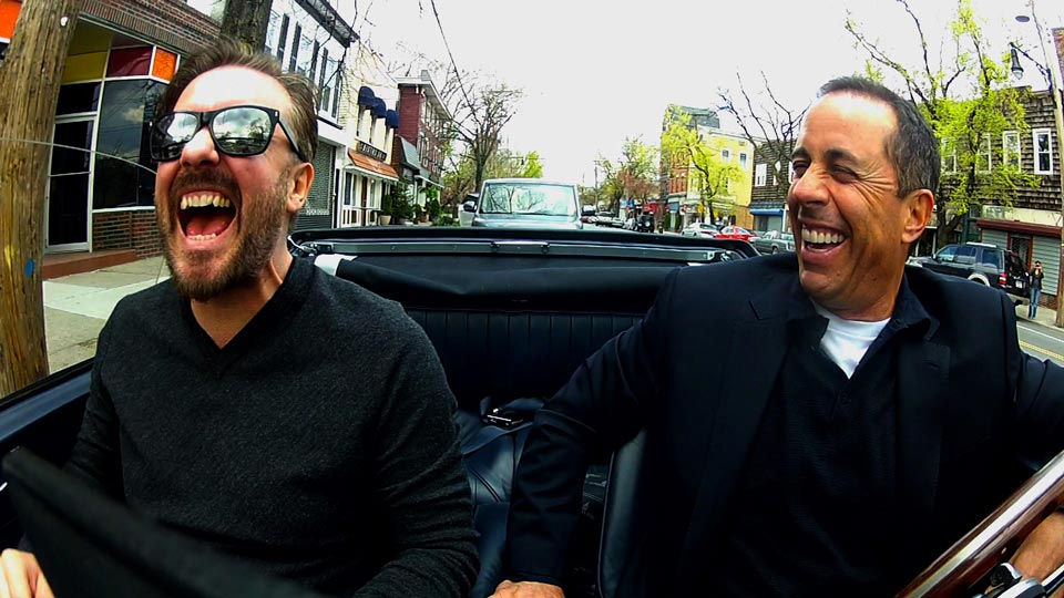 Jerry Seinfeld  &  Ricky Gervais on Comedians in Cars Getting Coffee