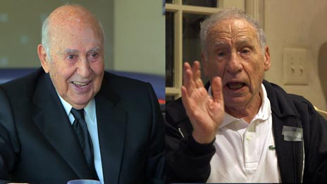 Jerry Seinfeld, Carl Reiner  &  Mel Brooks on Comedians in Cars Getting Coffee