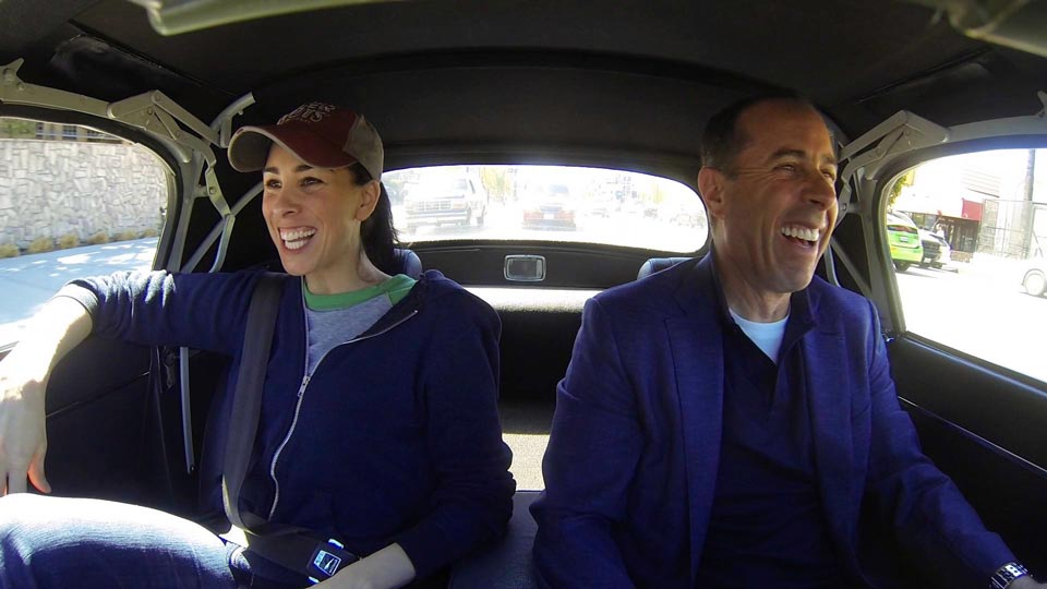 Jerry Seinfeld  &  Sarah Silverman on Comedians in Cars Getting Coffee