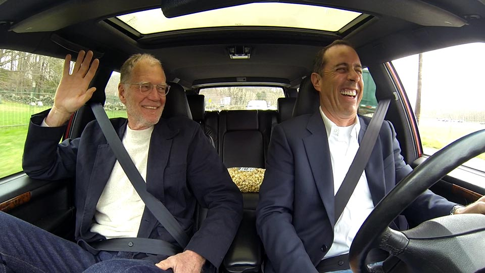 Jerry Seinfeld  &  David Letterman on Comedians in Cars Getting Coffee