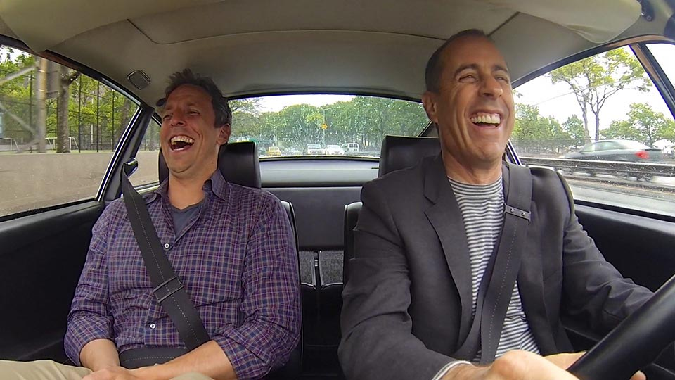 Jerry Seinfeld  &  Seth Meyers on Comedians in Cars Getting Coffee