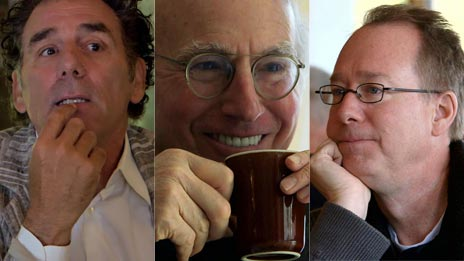 Jerry Seinfeld, Larry David, Joel Hodgson  &  Michael Richards on Comedians in Cars Getting Coffee
