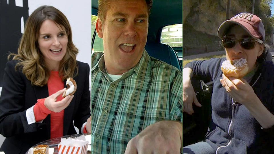 Jerry Seinfeld, Tina Fey, Brian Regan  &  Sarah Silverman on Comedians in Cars Getting Coffee