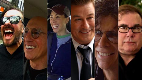 Jerry Seinfeld, Alec Baldwin, Larry David, Ricky Gervais, Ted L. Nancy, Sarah Silverman  &  Howard Stern on Comedians in Cars Getting Coffee